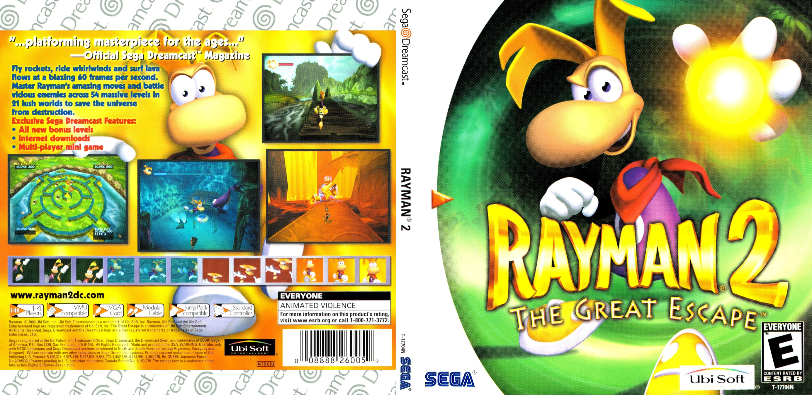 Rayman 2 - The Great Escape (USA) ISO < DC ISOs | Emuparadise